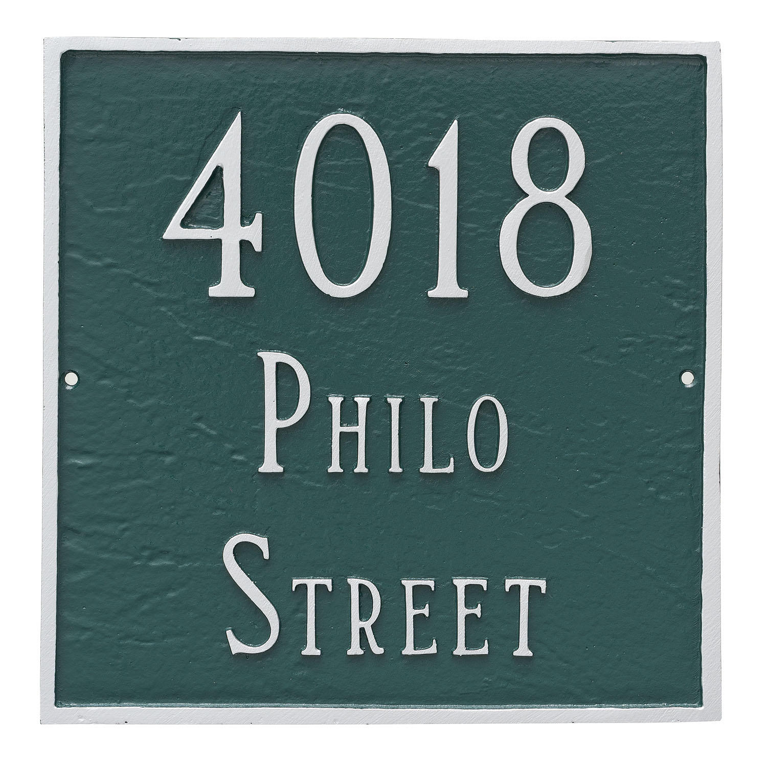 Square Address Plaque - Standard - 2 Line