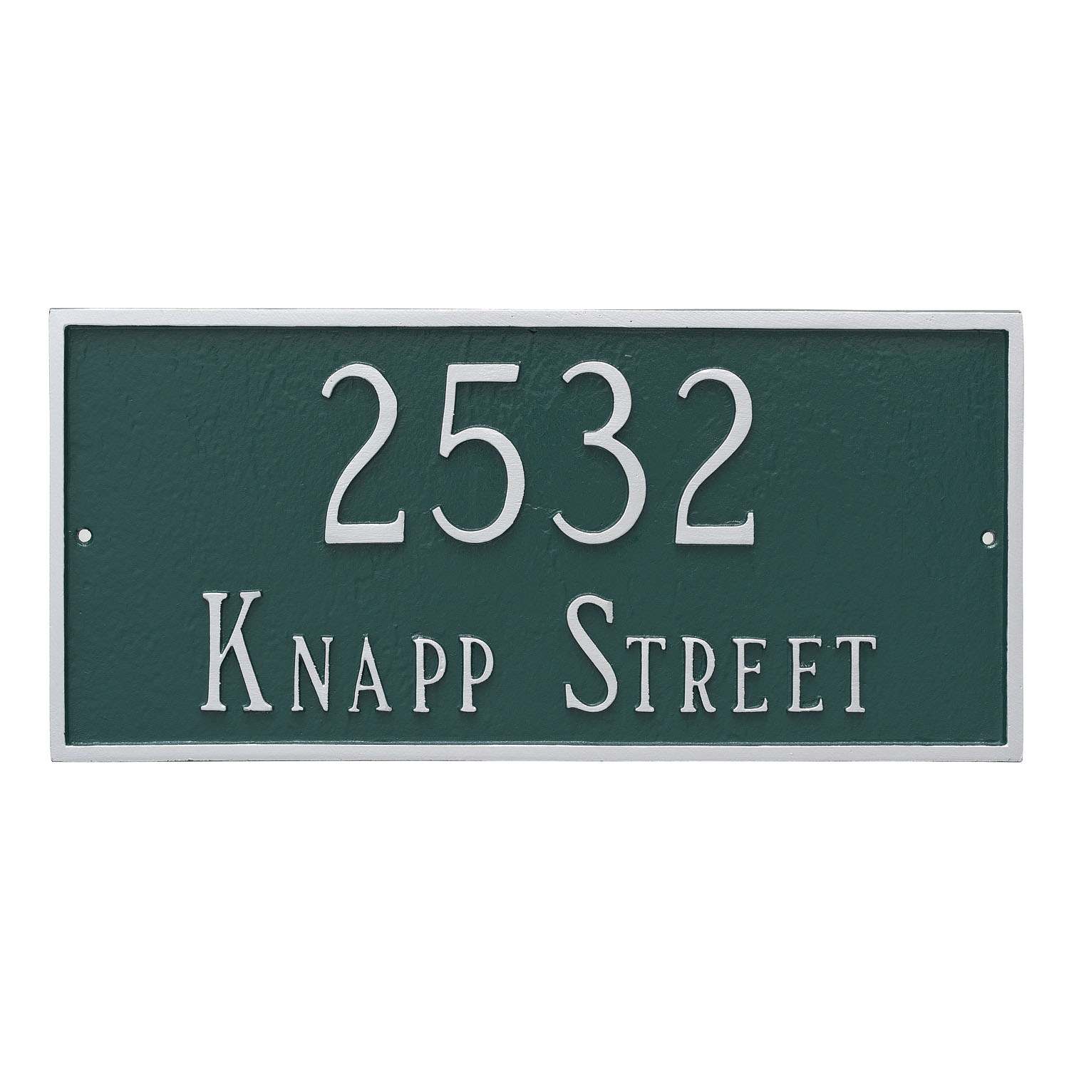 Classic Rectangle Address Plaque - Standard - 2 Line