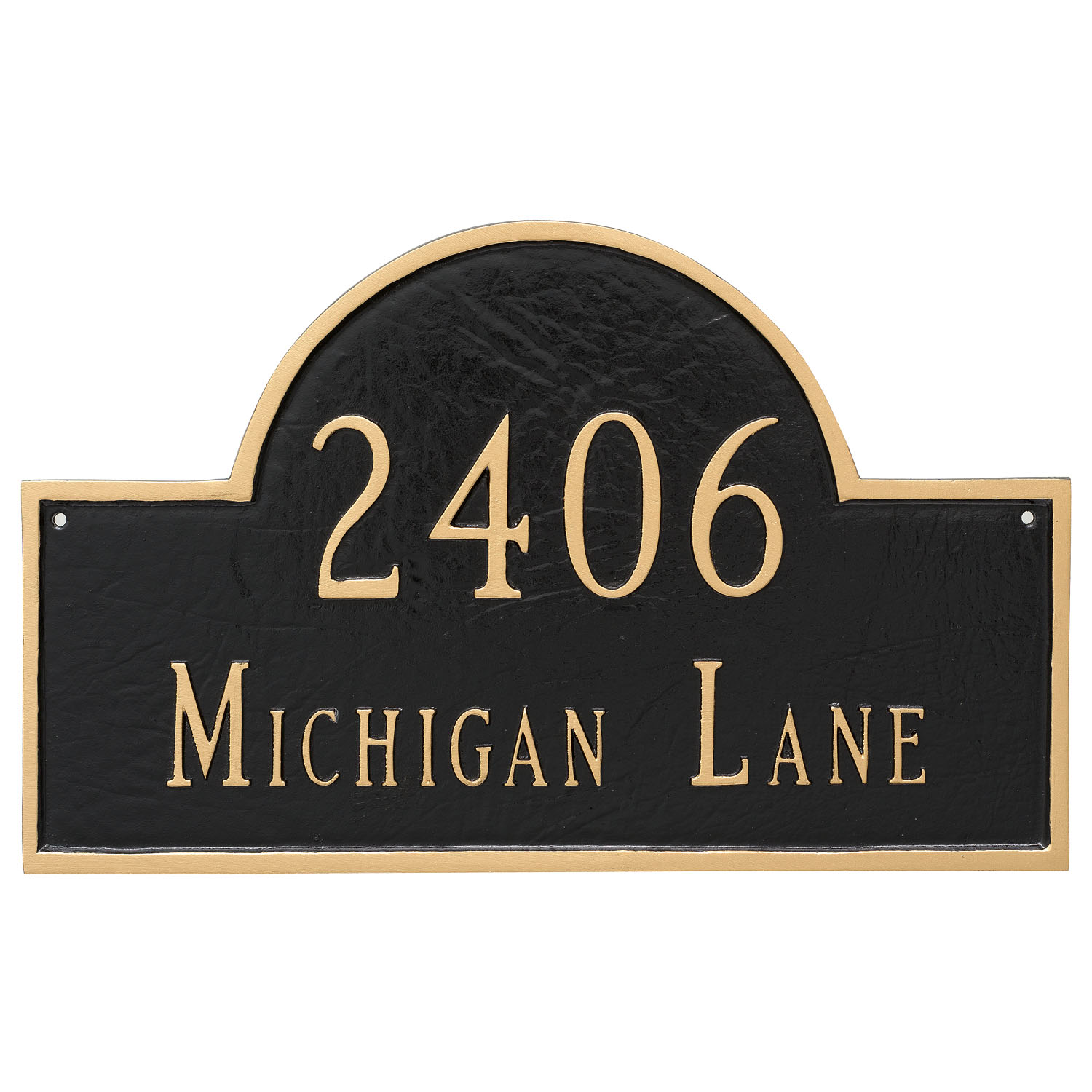 Classic Arch Address Plaque - Large - 2 Line