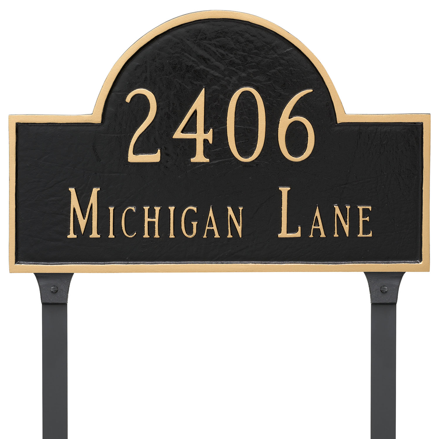 Classic Arch Address Plaque - Estate - 2 Line