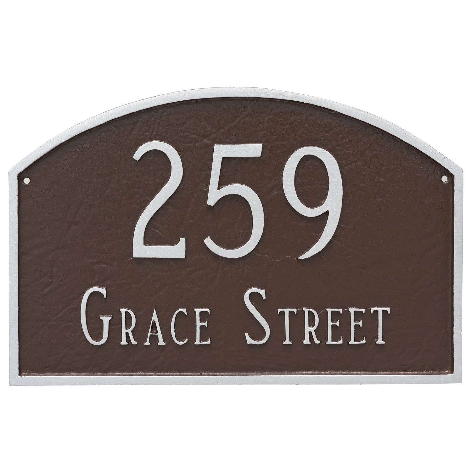 Prestige Arch Address Plaque - Large - 2 Line