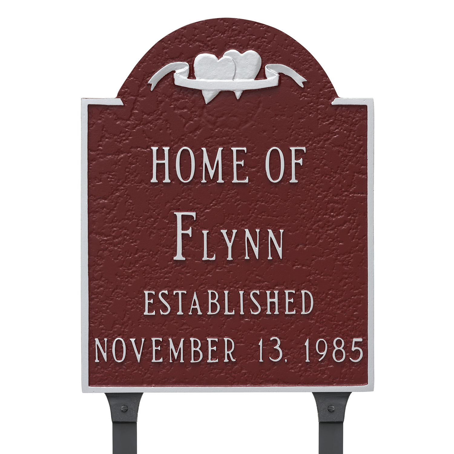 Hearts Established - Wedding Home Plaque w/ Surname