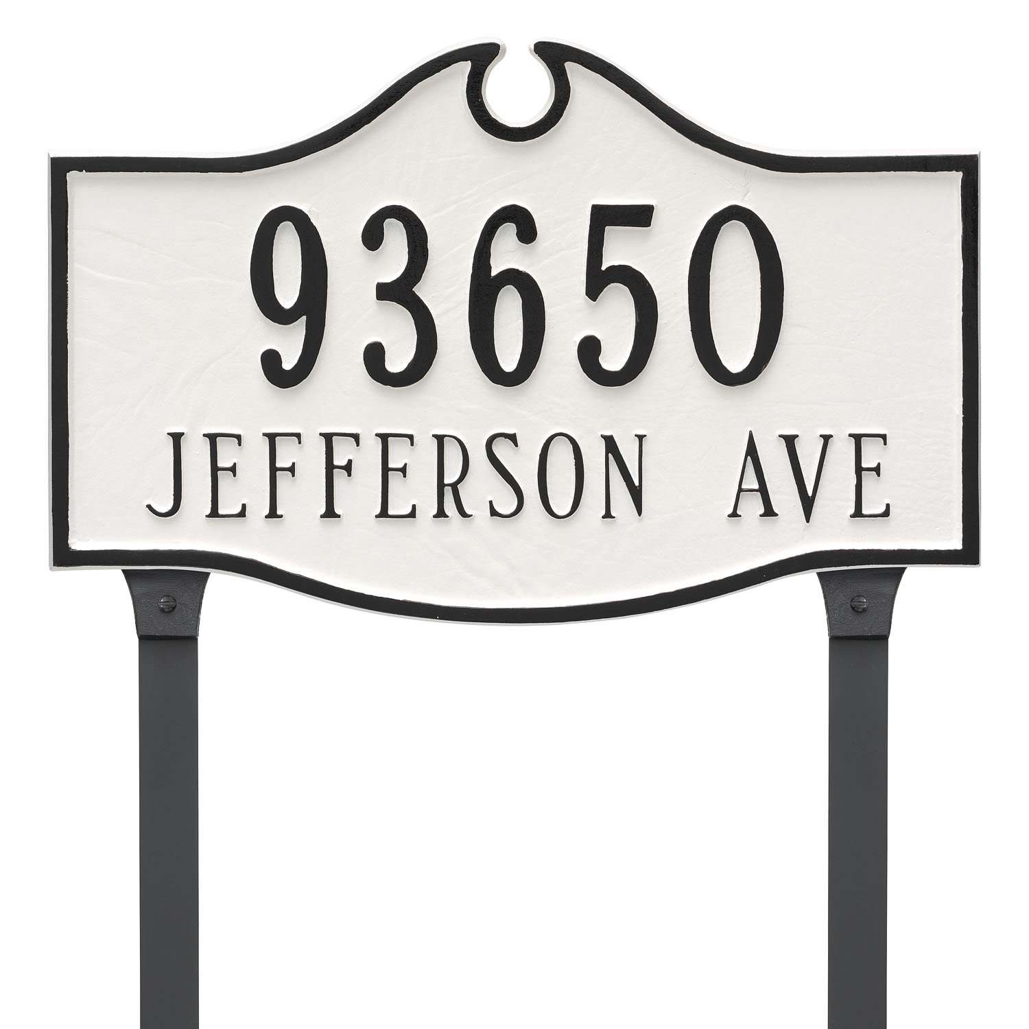 Colonial Address Plaque - Standard - 2 Line
