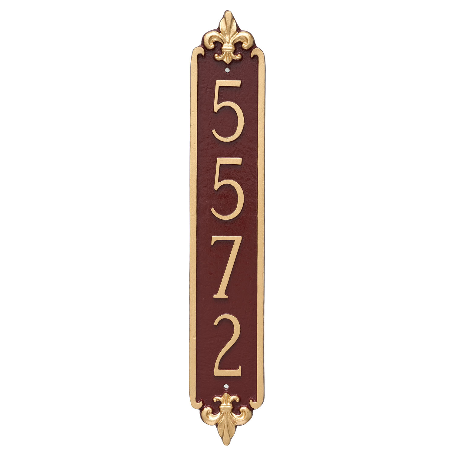 Fleur De Lis Vertical Address Plaque