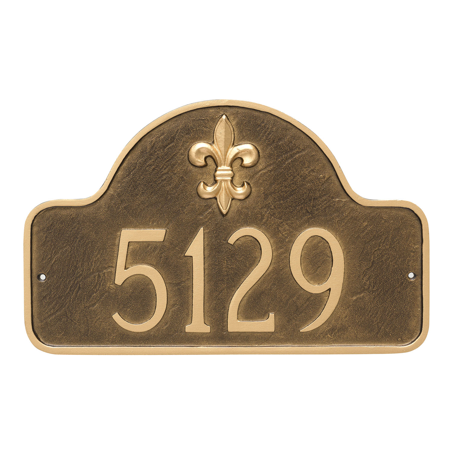 Fluer de Lis One Line Arch Address Plaque - Standard