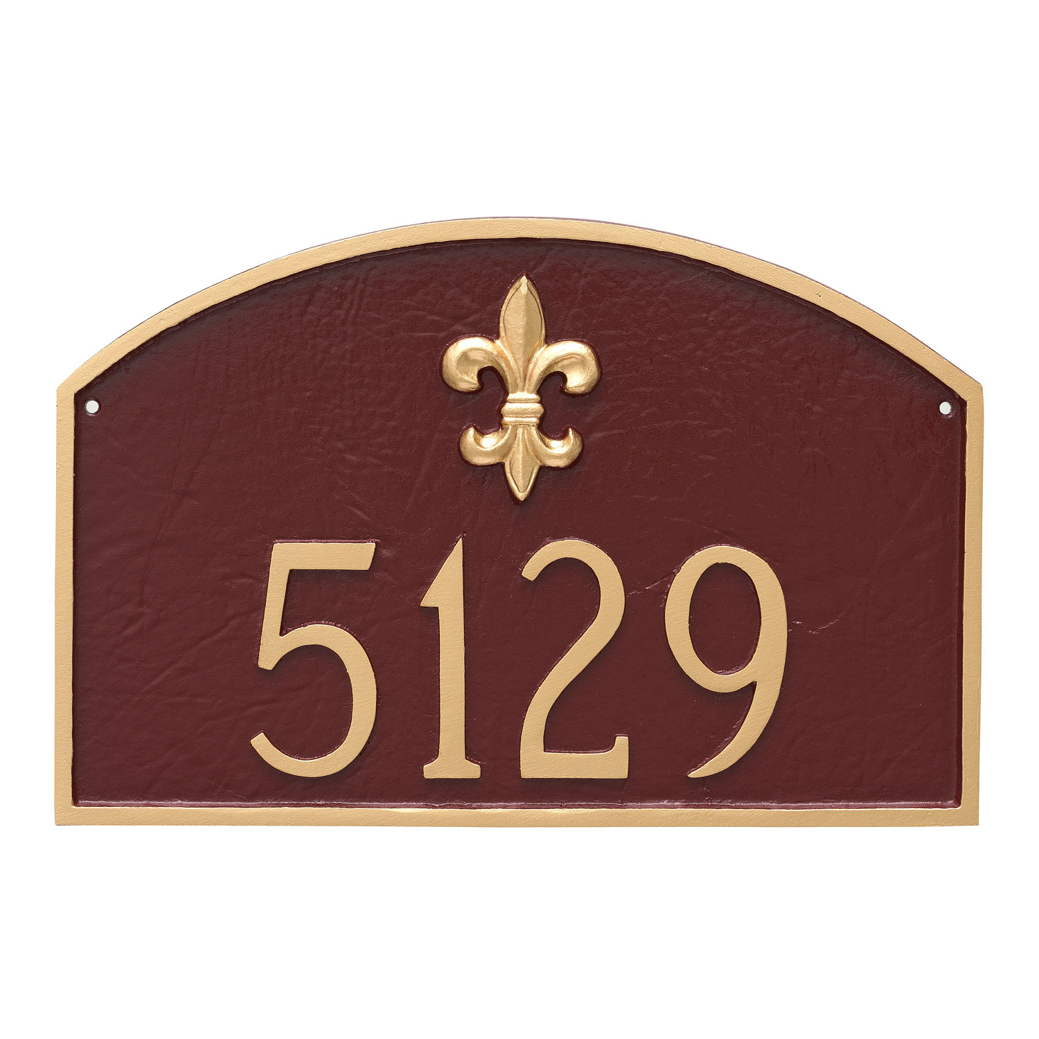 Fluer de Lis 1 Line Prestige Arch Address Plaque - Large