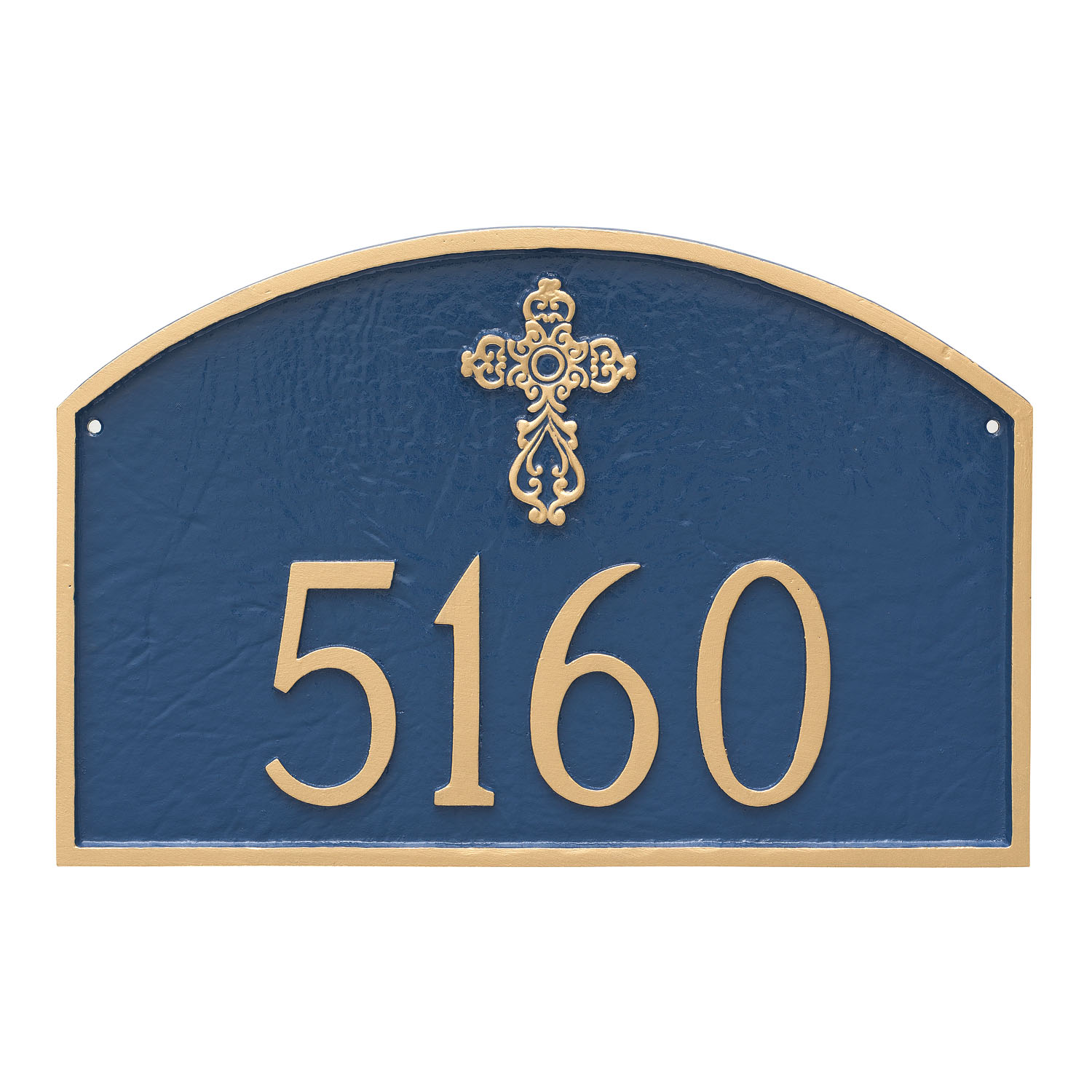 Ornate Cross Prestige Arch Address Plaque