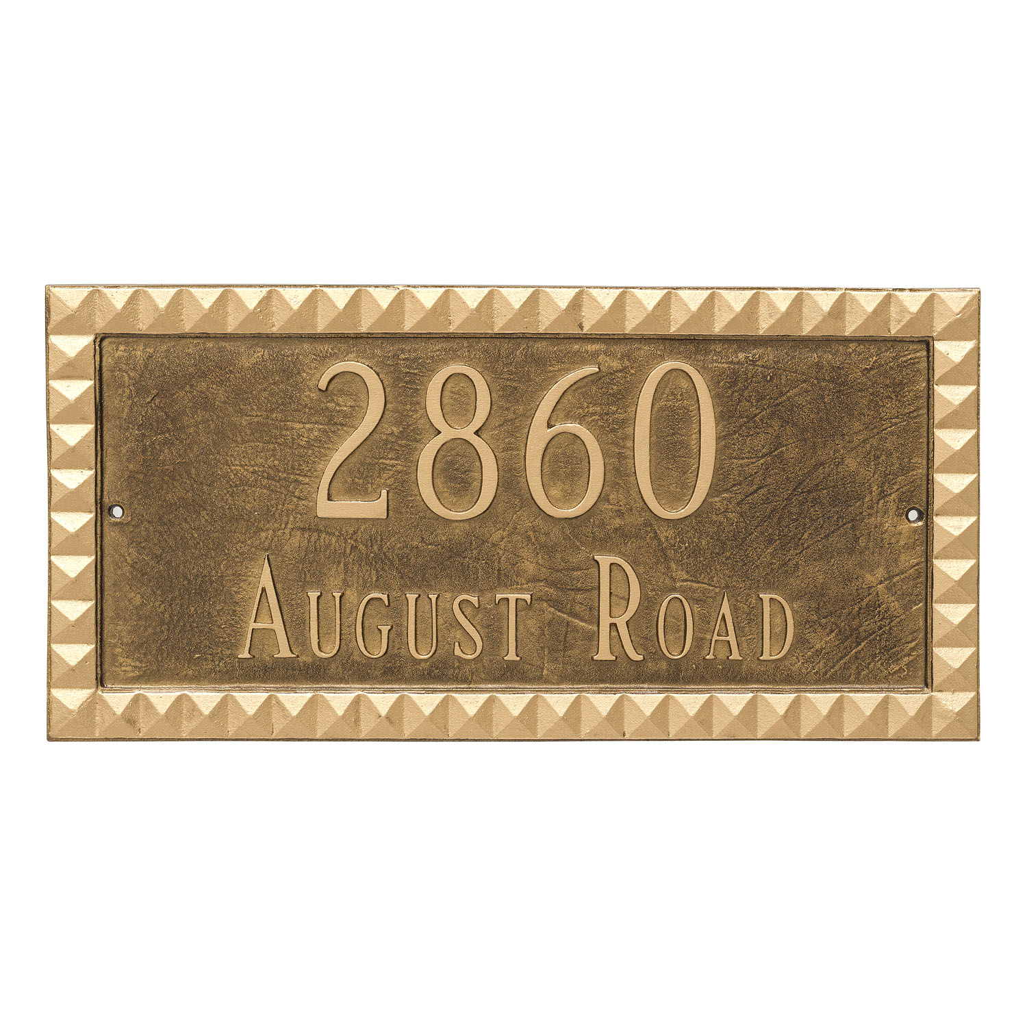 Cairo Address Plaque - 2 Line