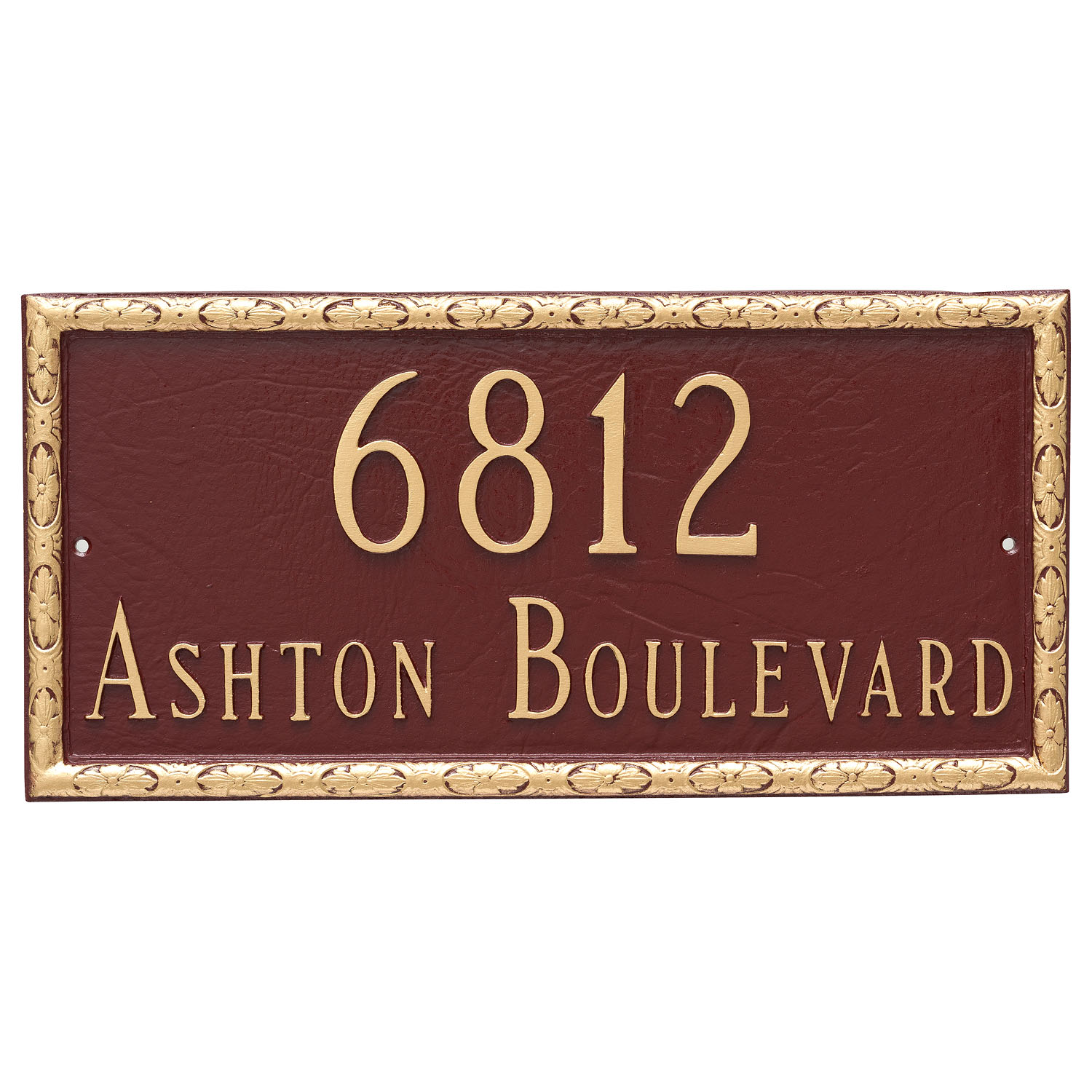 Jefferson Address Plaque - 2 Line