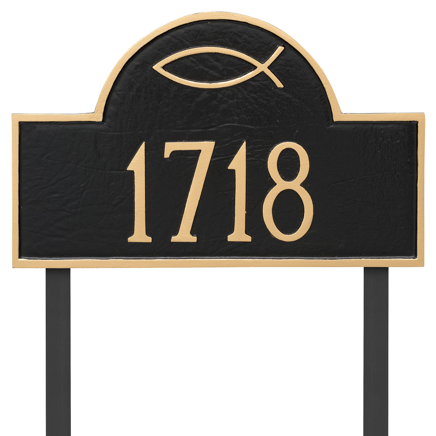 Ichthus Classic Arch Address Plaque
