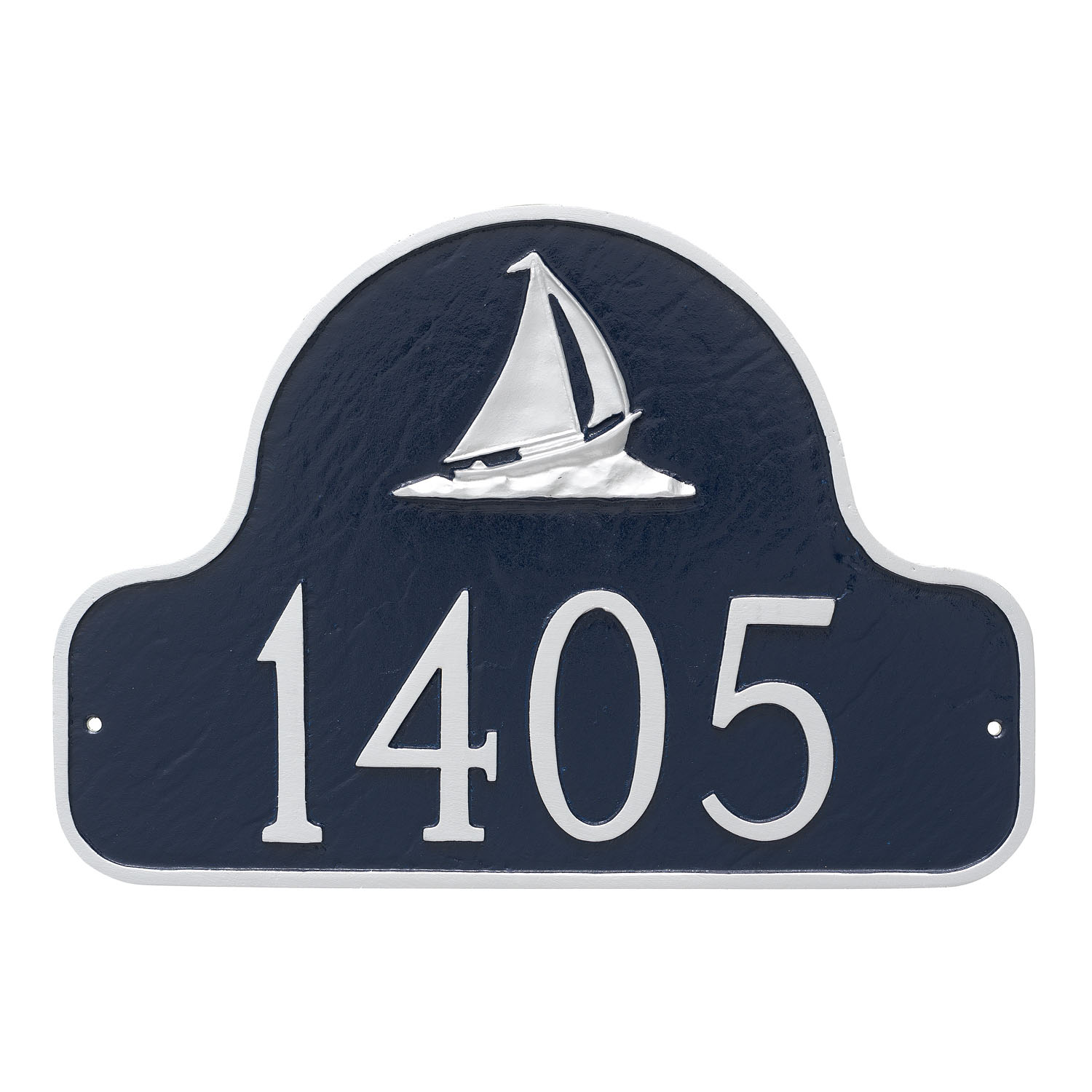 Sailboat Arch Address Plaque