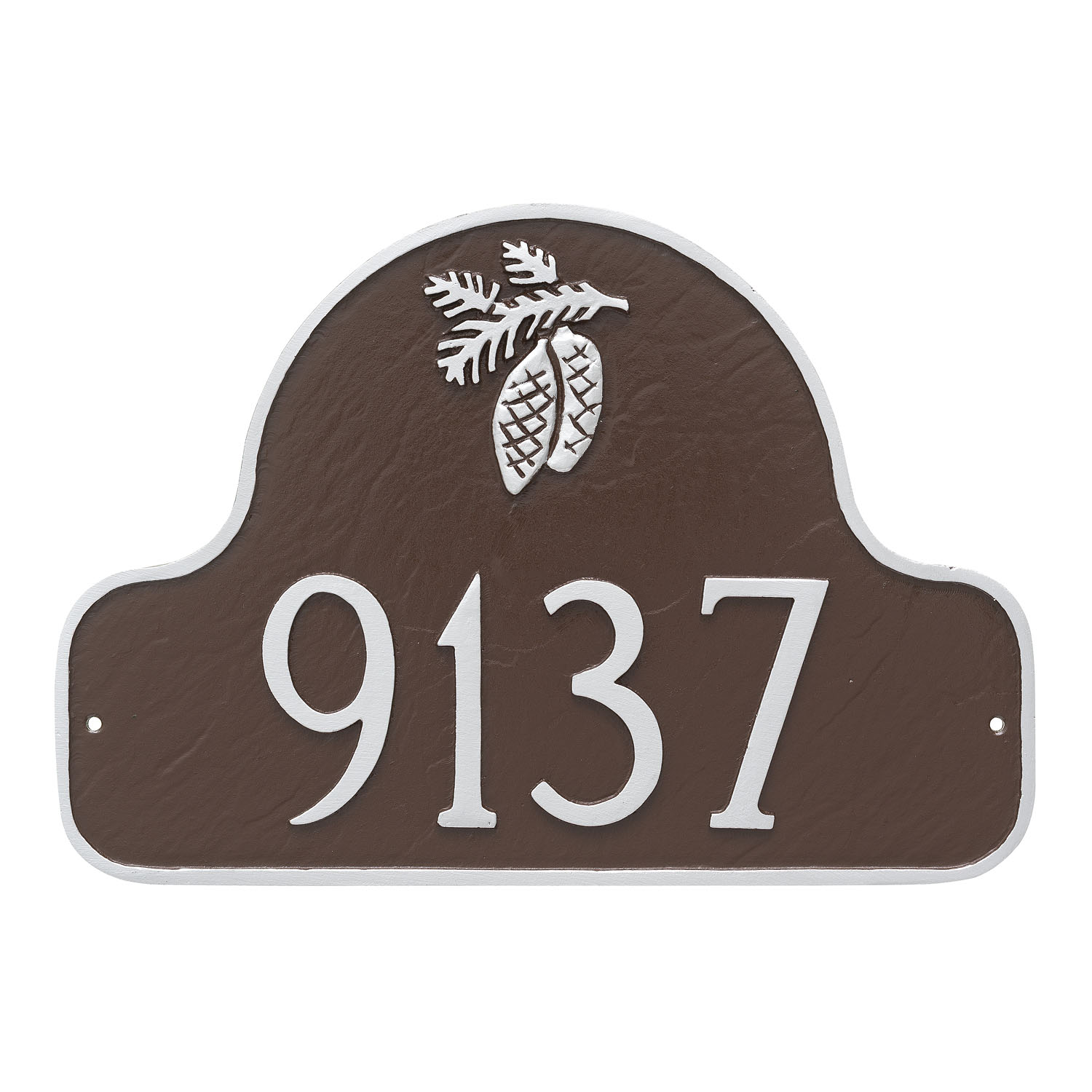 Pine Cone Arch Address Plaque