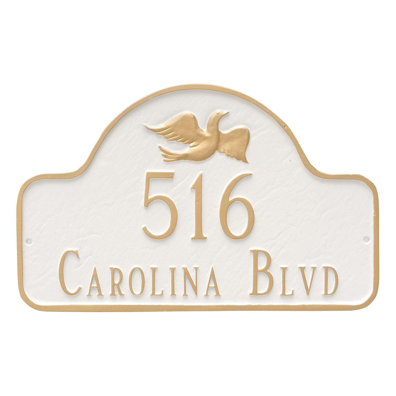 Dove Arch Address Plaque