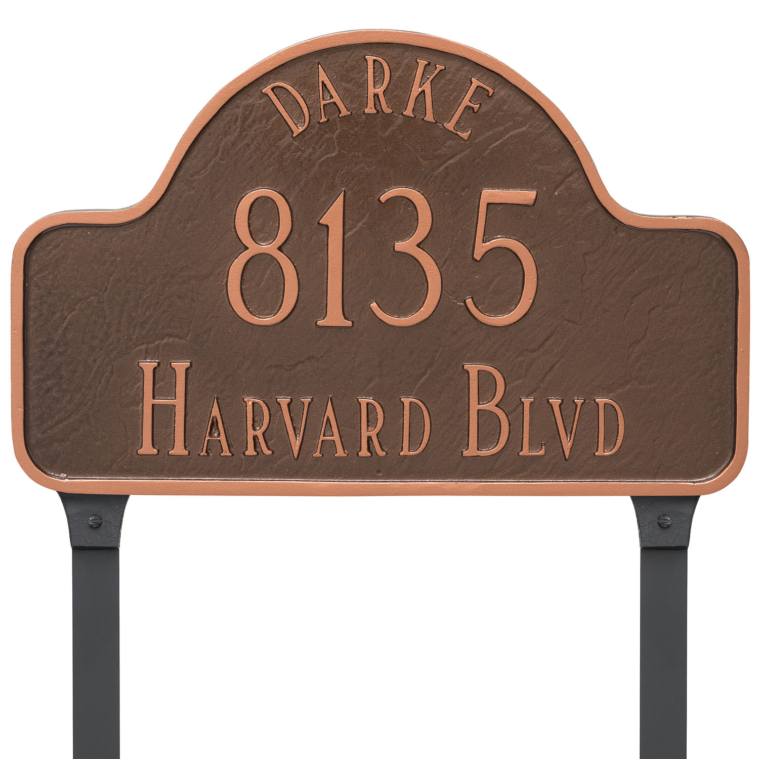 Arch Address Plaque w/ Name - Standard