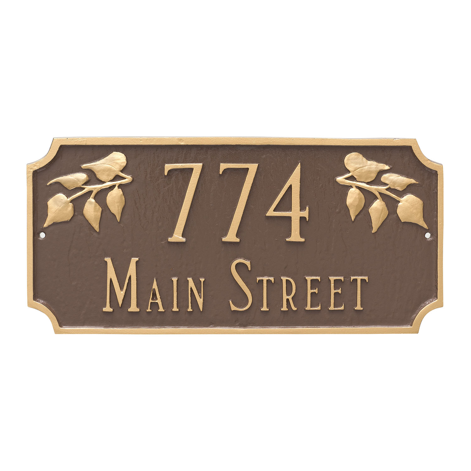 Camden Ivy Address Plaque - 2 Line