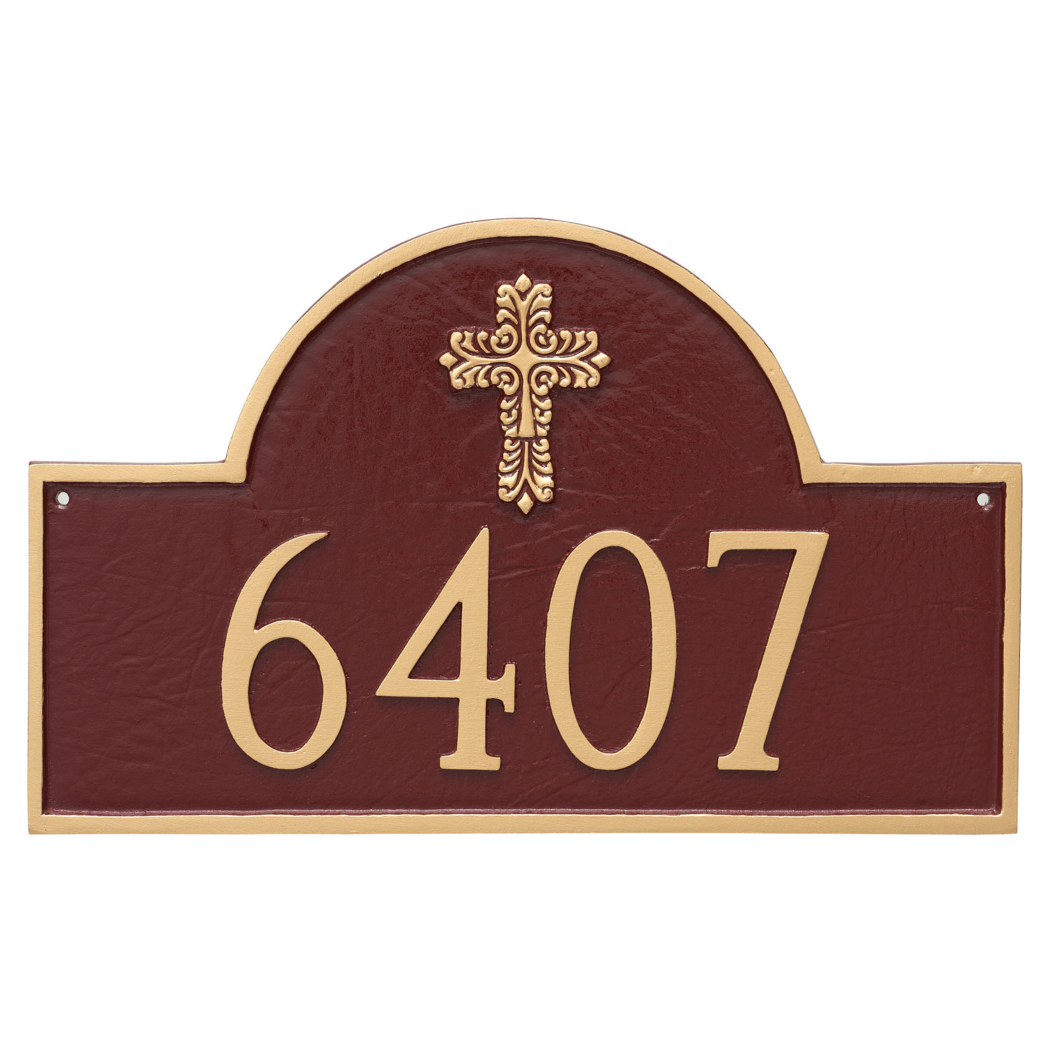 Decorative Cross Classic Arch Address Plaque