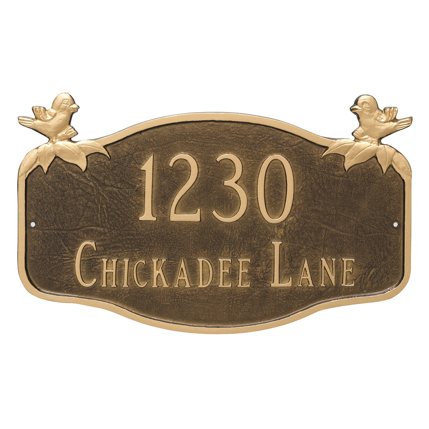 Chickadee Address Plaque