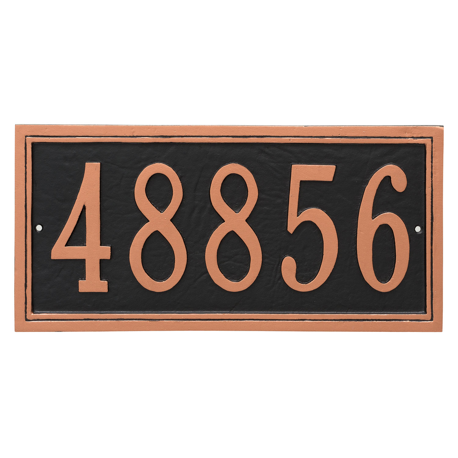 Fremont Rectangle Address Plaque - 2 Line