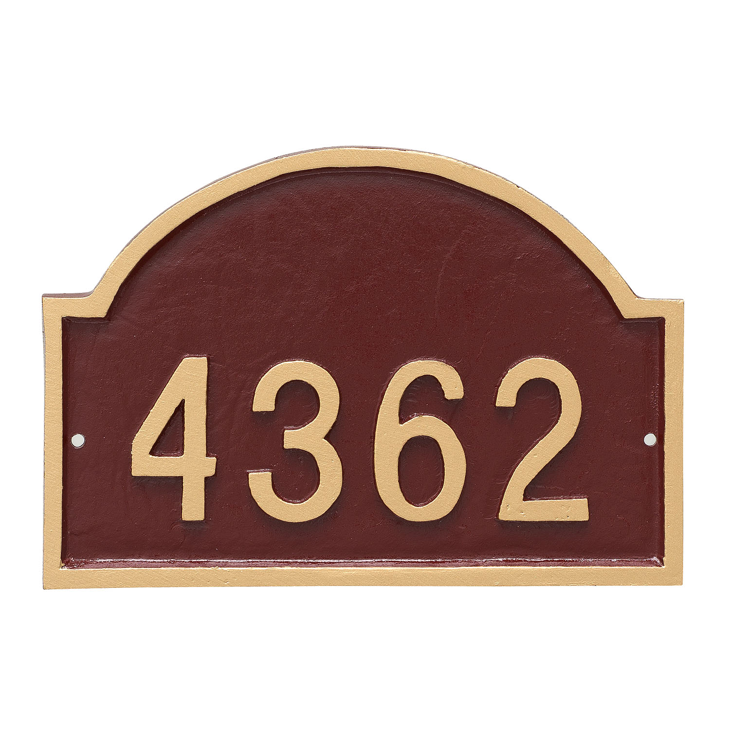 Dover Arch Standard Address Sign Plaque - 1 Line
