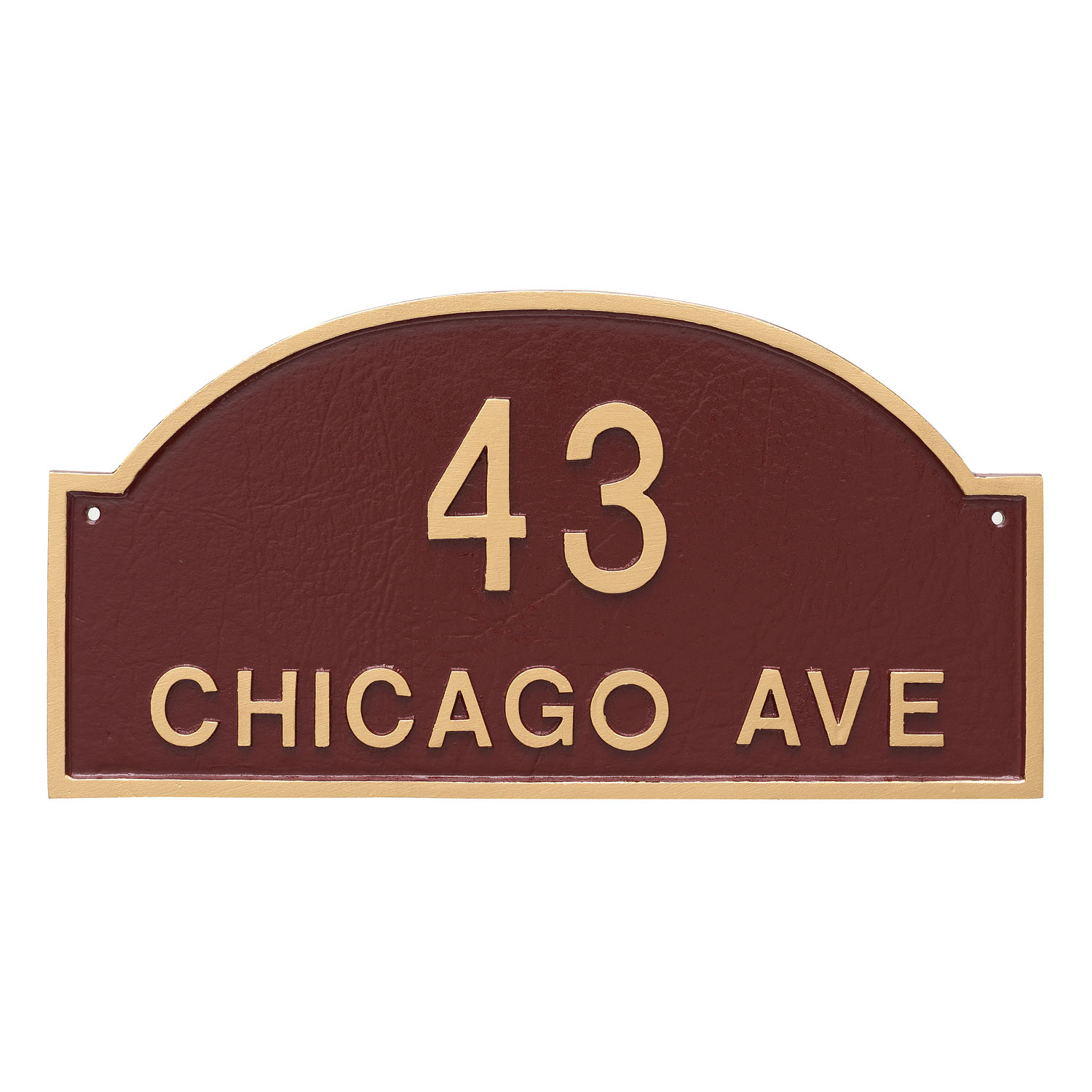 Dover Arch Standard Address Sign Plaque - 2 Line