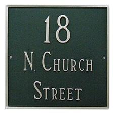 Square Address Plaque - Large - 3 Line