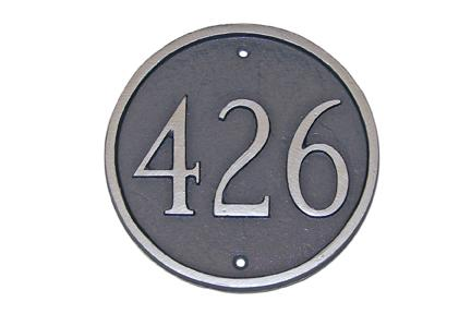 Circle Address Plaque - Large