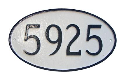 Oval Address Plaque - Mini
