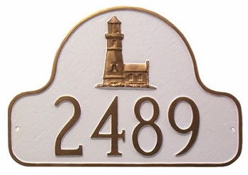Classic Arch Lighthouse Address Plaque