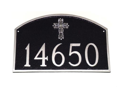 Decorative Cross Prestige Arch Address Plaque