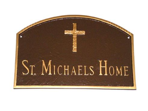 Rugged Cross Prestige Arch Address Plaque