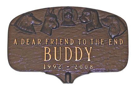 Garden Dog Memorial Plaque