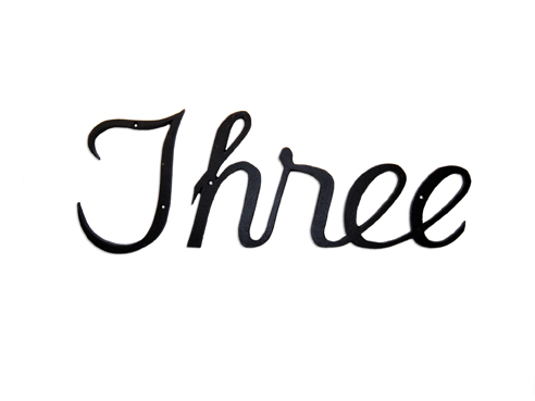 Script Style House Number Words