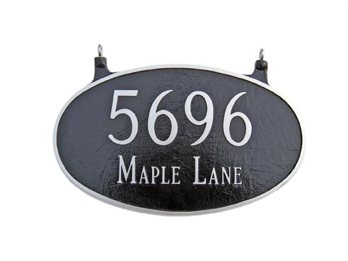 Oval Address Plaque - Large Double Sided Hanging