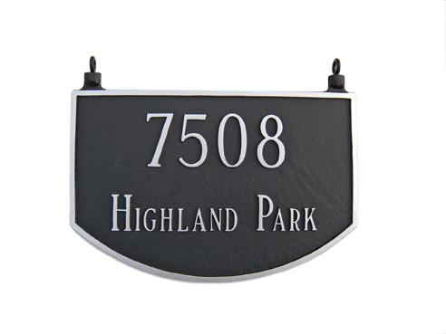 Prestige Arch Address Plaque - Large Double Sided Hanging