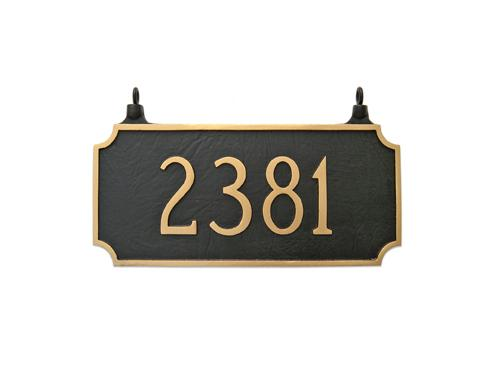 Princeton Address Plaque - Large Double Sided Hanging