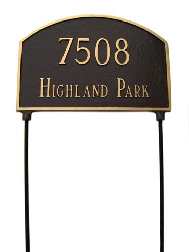 Prestige Arch Address Plaque - Large Double Sided Ground Mount