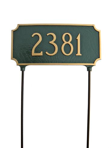 Princeton Address Plaque - Large Double Sided Ground Mount