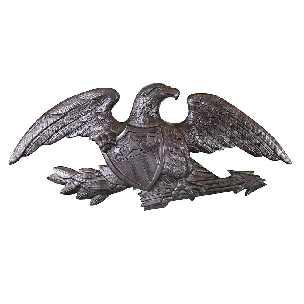Full Bodied Eagle Cast Aluminum Wall Ornament