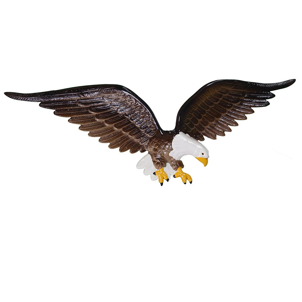 Eagle in Flight Cast Aluminum Wall Ornament