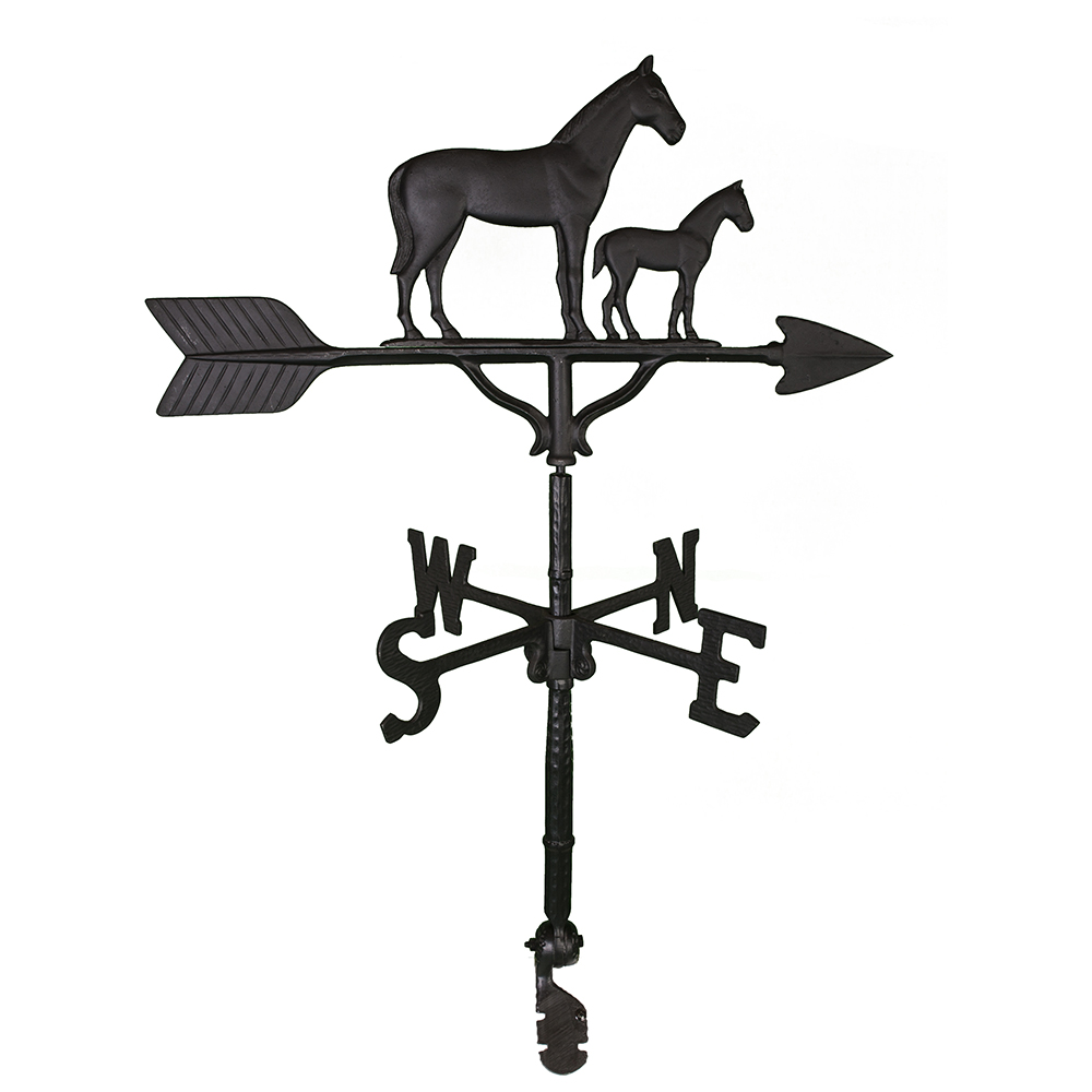 Cast Aluminum Mare & Colt 32in Weathervane