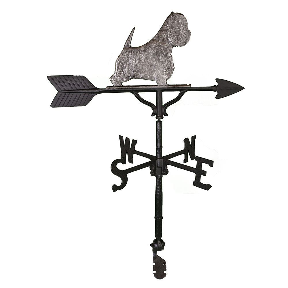 "Cast Aluminum West Highland Terrier 32"" Weathervane"