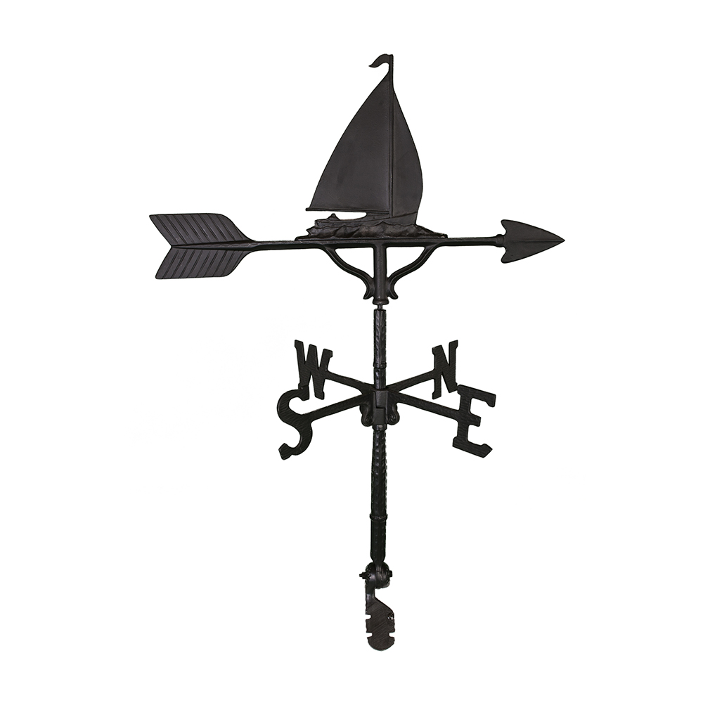 Cast Aluminum Sailboat 32in Weathervane