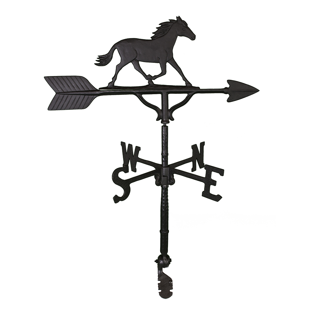 Cast Aluminum Horse 32in Weathervane