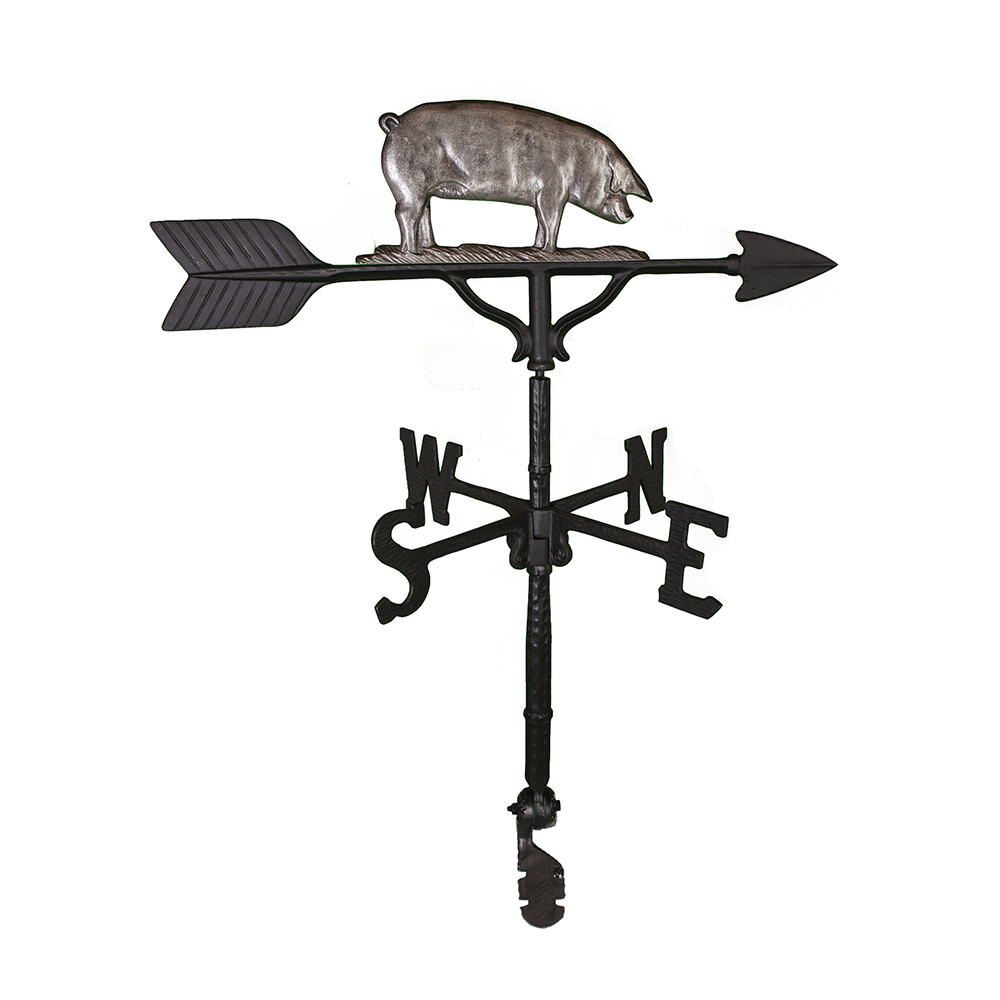 Cast Aluminum Pig 32in Weathervane