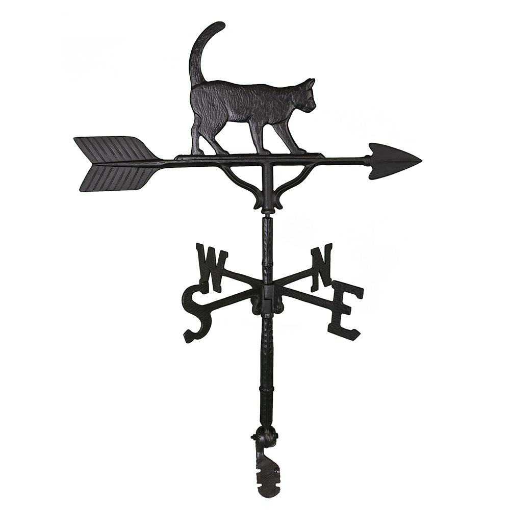 Cast Aluminum Cat 32in Weathervane
