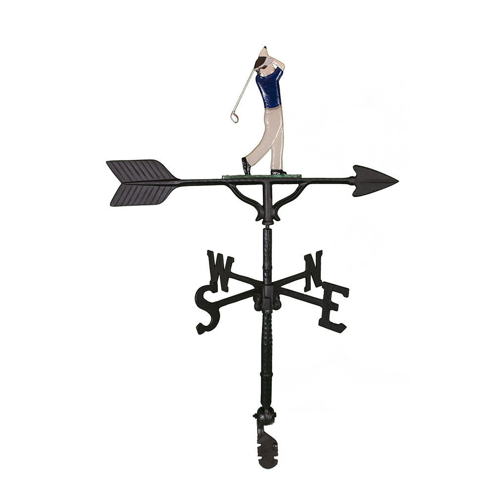 Cast Aluminum Golf Swing 32in Weathervane