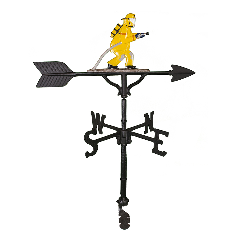 Cast Aluminum Fireman 32in Weathervane