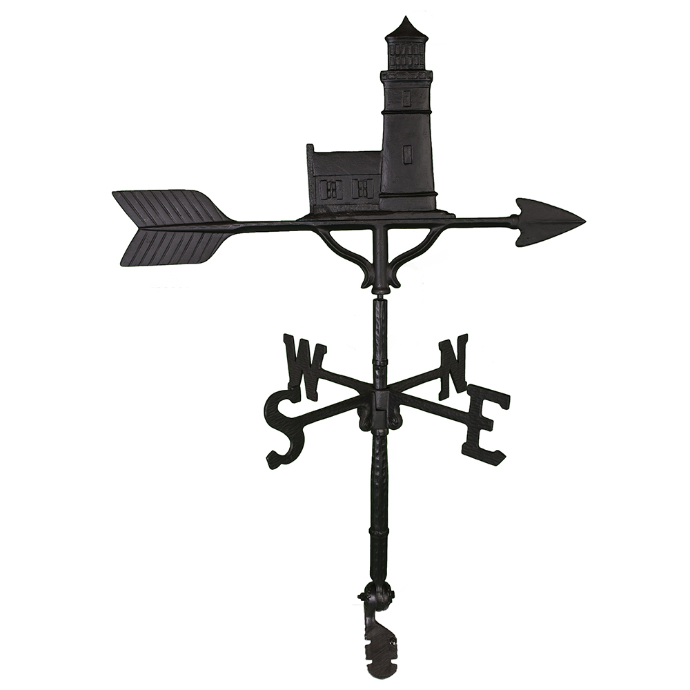 "Cast Aluminum Cottage Lighthouse 32"" Weathervane"
