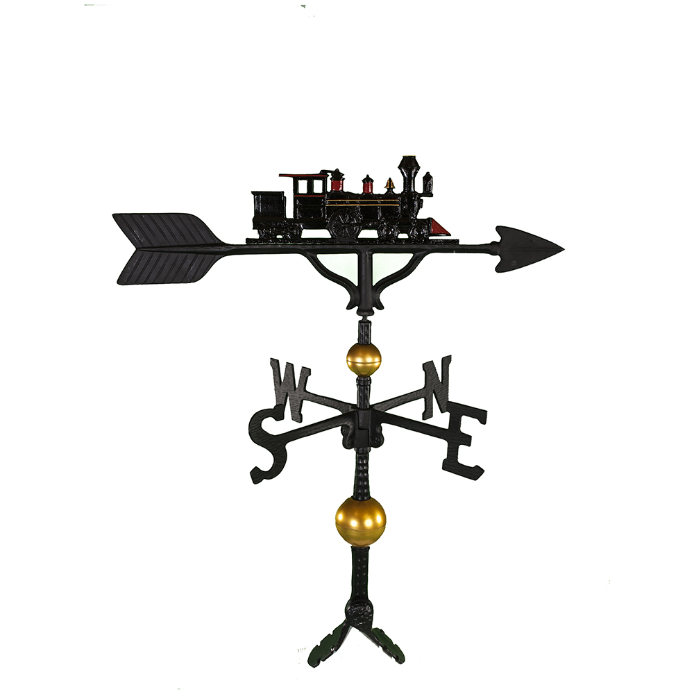 Cast Aluminum Locomotive 32in Weathervane - Deluxe