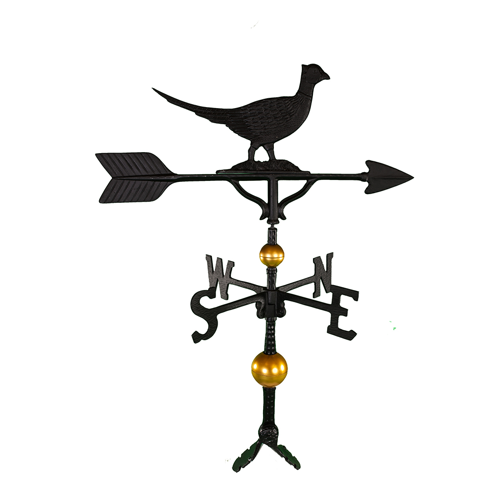 Cast Aluminum Pheasant 32in Weathervane - Deluxe